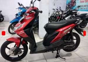 Honda beat merah 2009